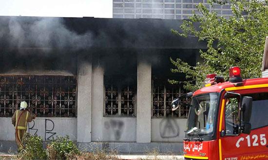 آتش سوزی خانه تهران